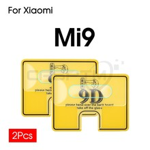 2Pcs 9D Back Camera Lens Protector Clear Film For Xiaomi Mi 9T Pro CC9 CC9E Mi 9 9 SE Mi 8 Lite 8Se 6X A2 Max 3 Tempered Glass(China)