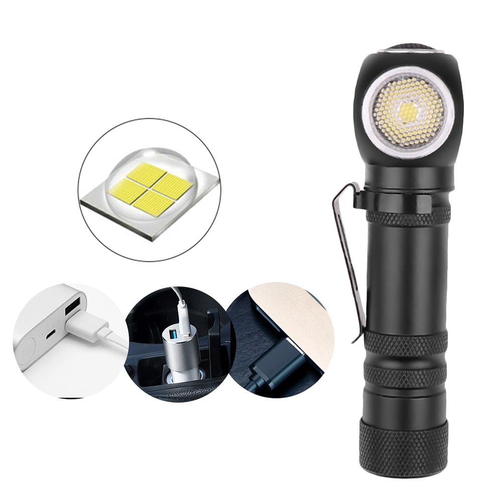 LED Work Light Magnetic USB Charging Flashlight Headlight Lamp 3 Modes Multifunction USB Rechargeable Light Garage Work Light