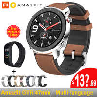 [Versión Global] en Stock 2019 Huami Amazfit GTR 47mm 42mm GPS reloj inteligente hombre 5ATM impermeable reloj inteligente 24 días batería