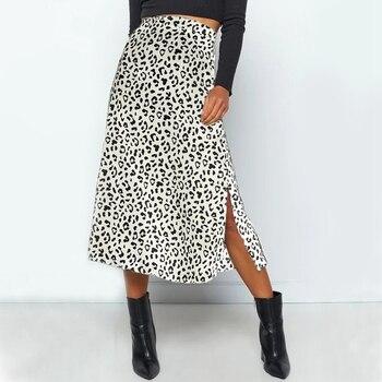 2020 New Sexy Leopard Print Chiffon Split Skirt   4