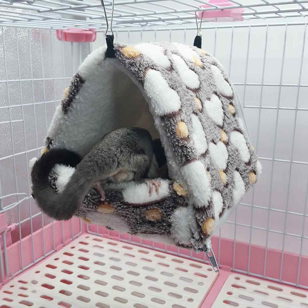 Morbido Criceto Amaca Nido Caldo Sacco A Pelo Staccabile Cincillà Coniglio Piccolo di Cotone Nido Pet Letto per Piccoli Animali
