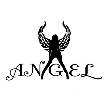 Car Sticker Sexy Angel Decal Girl Wing Car Truck Window Mirror PVC Wall Sticker Car Style Black Strip 18.6cm * 11.4cm image