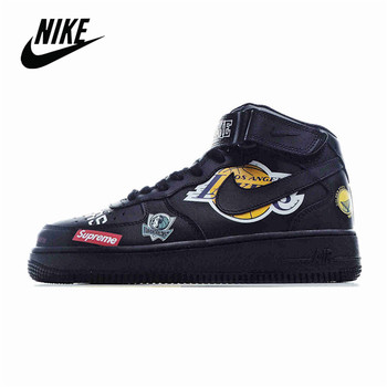 Nike Air Force 1 Supreme x NBA x Nike Air Force AF1 Men's Mid-Top Sneakers Size 40-45 AQ8017-001