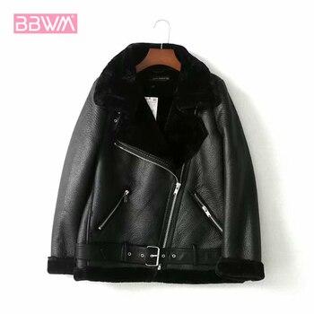 Manteau Chic femme, à revers rembourré avec ceinture, à manches longues, noir chaud, pour Locomotive, hiver, collection veste femme 1
