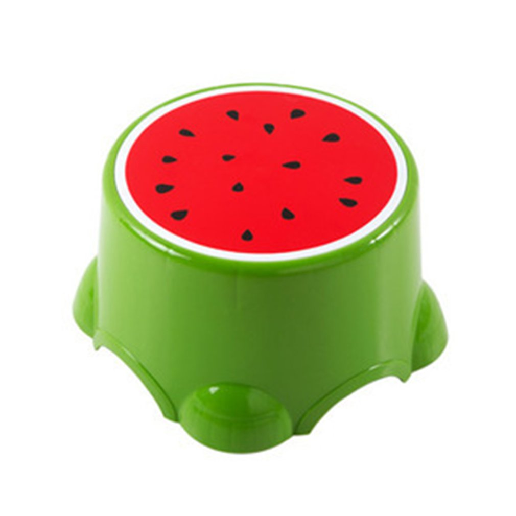 4 Colors Lovely Stools Fruit Pattern Living Room Non-slip Bath Bench Child Stool Changing Shoes Stool