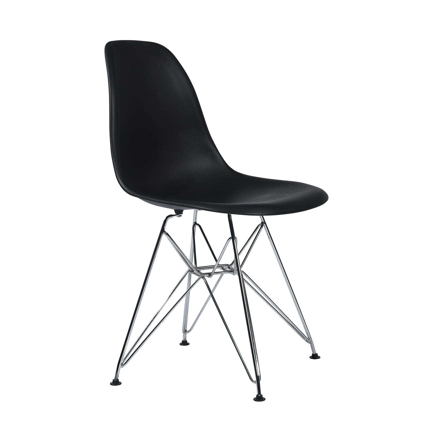 EGGREE Modern Rico Dining Chairs, Kitchen Chair With Metal Feet, Office Room Chair With Solid Frame- Black