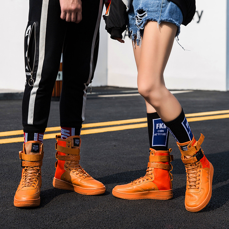 Fashion New Casual Running Shoes Tenis Feminino Men And Women Outdoor Breathable Sports Shoes PU Business Vulcanization Shoes