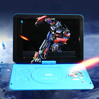 13.9inch Outdoor Home HD Portable USB LCD Mini DVD Player TV Game CD Swivel Screen Car Rechargeable Battery