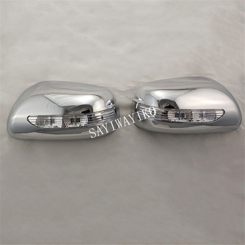 Rear view mirror cover for Toyota wish 2003 2004 2005 2006 2007 Novel style 2PCS ABS Chrome plated door mirror covers with Led