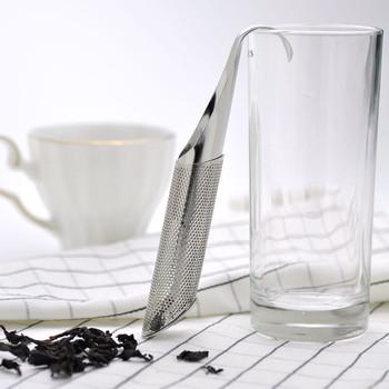 Sitko do herbaty ze stali nierdzewnej naczynia do herbaty wiszące rury uchwyt ekspres do herbaty wyciek herbaty filtr do herbaty łyżeczka do herbaty filtr akcesoria kuchenne tanie i dobre opinie CN (pochodzenie) STAINLESS STEEL