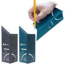 1 Set Holzbearbeitung 3D 90 Grad Platz Gauge Winkelmesser Über T-Typ Herrscher Winkel Zufällige Farbe