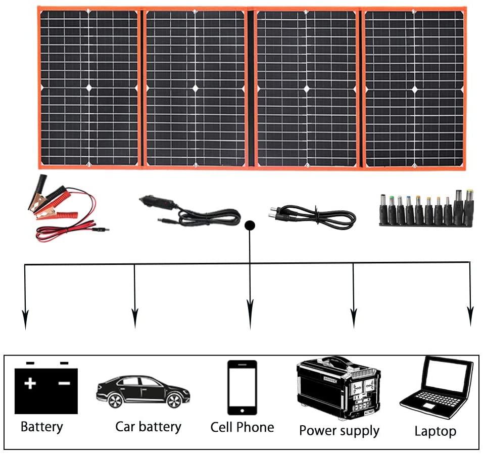 Xinpuguang portátil dobrável fotovoltaico painel solar 18v 40w 60 80 100 150 fotovoltaico painel kit bateria carregador do telefone