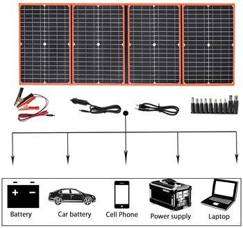 XINPUGUANG przenośny składany panel fotowoltaiczny 18v 40w 60W 80W 100W 150W zestaw paneli fotovoltaic ładowarka do telefonu tanie i dobre opinie CN (pochodzenie) Rohs Panel słoneczny 40w 60w 80w 100w 150w 200w 40w 60w 80w Solar Charger 100w 150w 200w solar panel