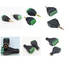 """3.5mm 1/8"""" jack Stereo Mono 2 poles 3 Poles 4 poles Male&Female to Screw Terminal Jack 2pins 3pins 4pins Block Plug Connector"""