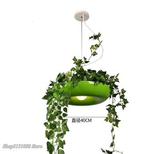 Image 4 - Nordic Plant Hanglampen Diy Sky Tuin Led Lamp Bloempot Opknoping Lamp Eetkamer Restaurant Verlichtingsarmaturen Thuis Decor