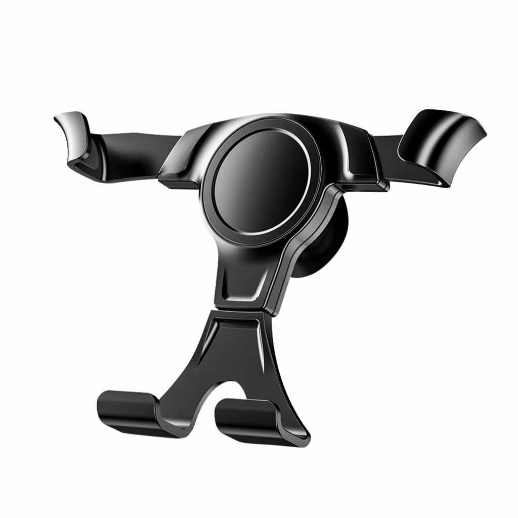 Soporte de coche de gravedad para teléfono en clip para salida de aire de coche montaje No magnético soporte de teléfono móvil soporte para iPhone X 7