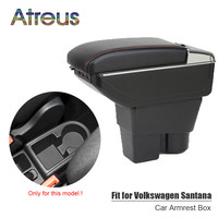 For Volkswagen VW Jetta MK6 6 Santana armrest box USB Charging interface heighten central Store content box cup holder ashtray