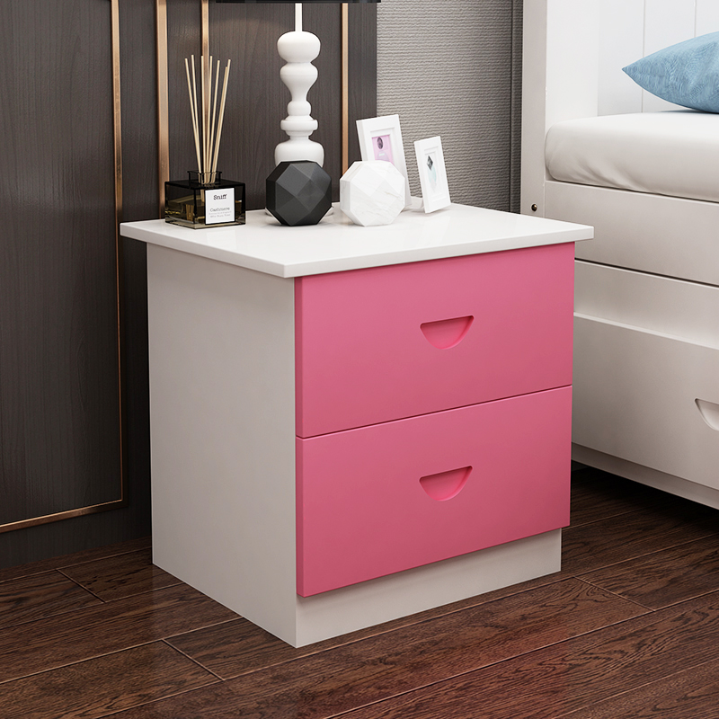 Simple Bedside Cabinet Simple Modern Bedside Cabinet Receiving Small Cabinet Mini Storage Cabinet Solid Wood Bedroom Assembly Be