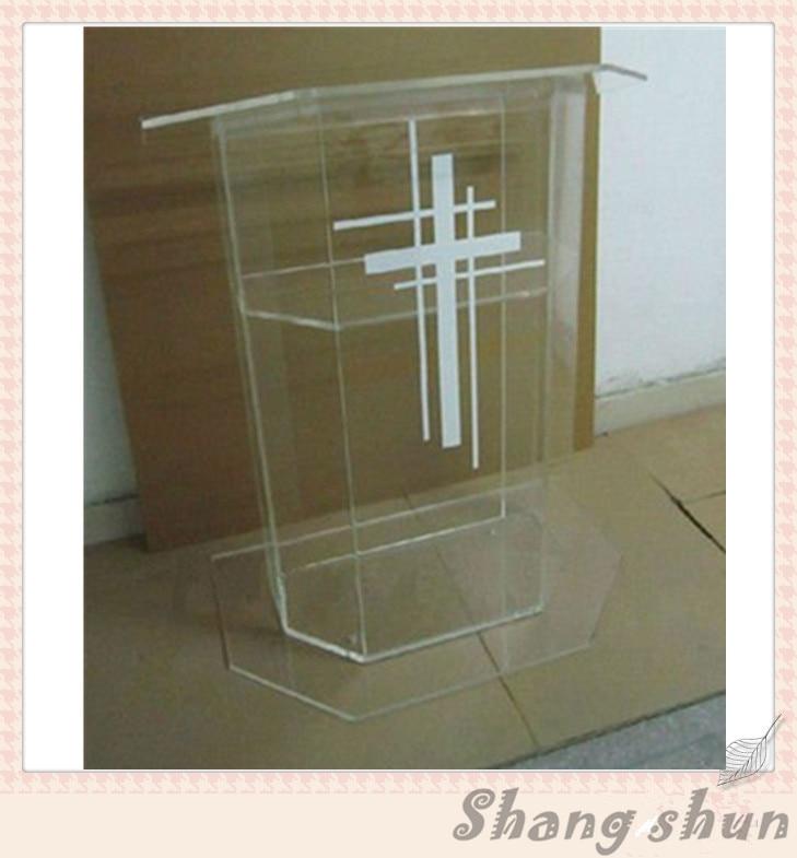 Plexiglass Cheap Pulpit, Acrylic Lectern/Podium Rostrum/Pulpit Acrylic Dais Clear Acrylic Church Podium Stand Plexiglass