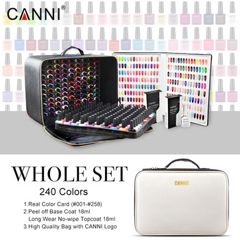 240 Colors/lot CANNI Soak Off Gel Nail Polish 7.3ml LED UV Color Gel Lacquer Nail Art Salon LED Lamp Curing UV Gel Nail Polish 30pcs pure colors uv gel soak off led gel lacquer uv nail set gel nail polish set