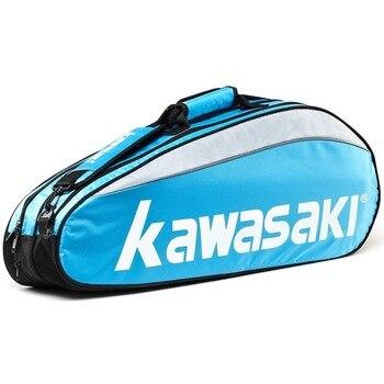 KAWASAKI Badminton Shoulder Backpack 3 to 6 Pack Badminton Racket Tennis Racket Unisex 3 Pack free shipping tennis racket badminton racket stringing machine fittings base clip universal string clip