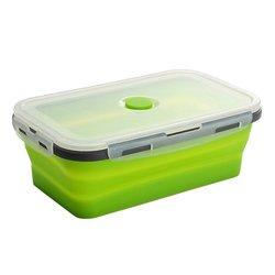 Silikonowy pojemnik na drugie śniadanie składane przenośne pudełko miska Bento Boxes składany pojemnik na żywność 350/500/800/1200ml ekologiczny w Pudełka śniadaniowe od Dom i ogród na
