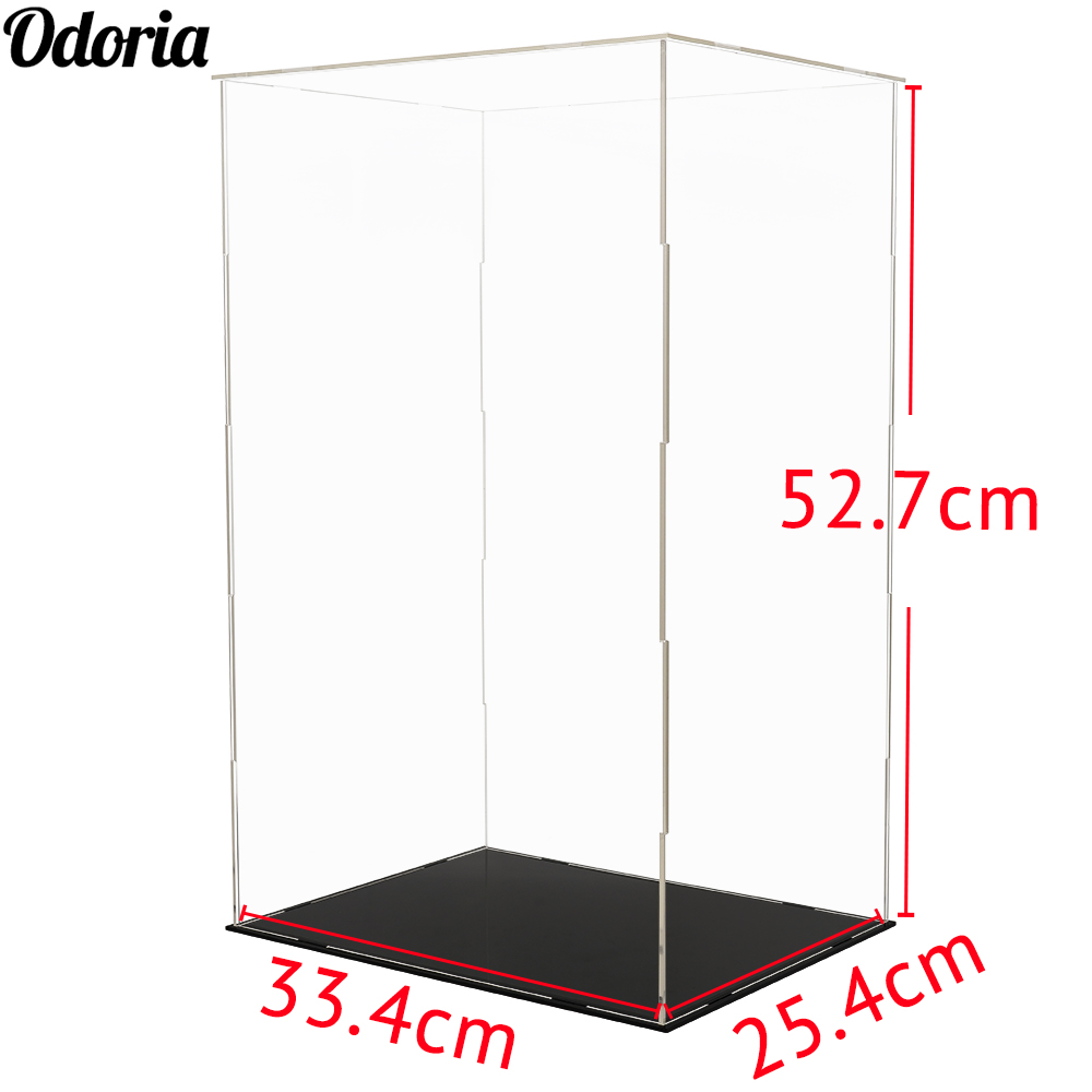 Odoria Clear Acryl Vitrine 52cm H Zelf assemblage Perspex Box Stofdicht Voor 1/4 Action Figure Modellen Poppen collectibles-in Model Accessoires van Speelgoed & Hobbies op  Groep 1