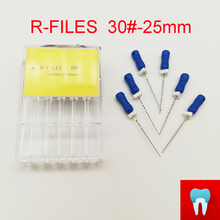 6pcs 30# 21mm Dental Reamers Protaper Files Root Canal Dentist Materials Dentistry Instruments Hand Use Stainless Steel R