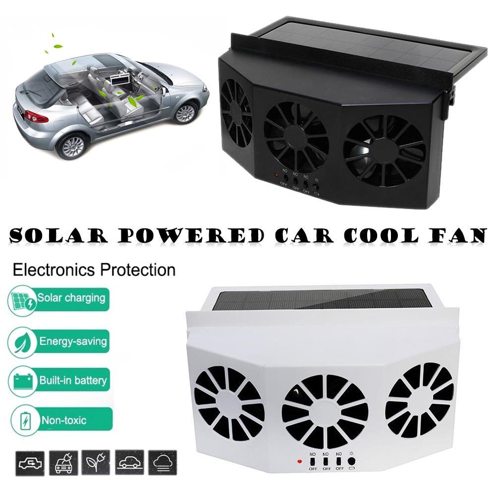 Solar Powered Car Cooler Front/Rear Window Radiator Radiator Exhaust Fan Auto Air Vent Fan Ventilation Radiator Cooling System