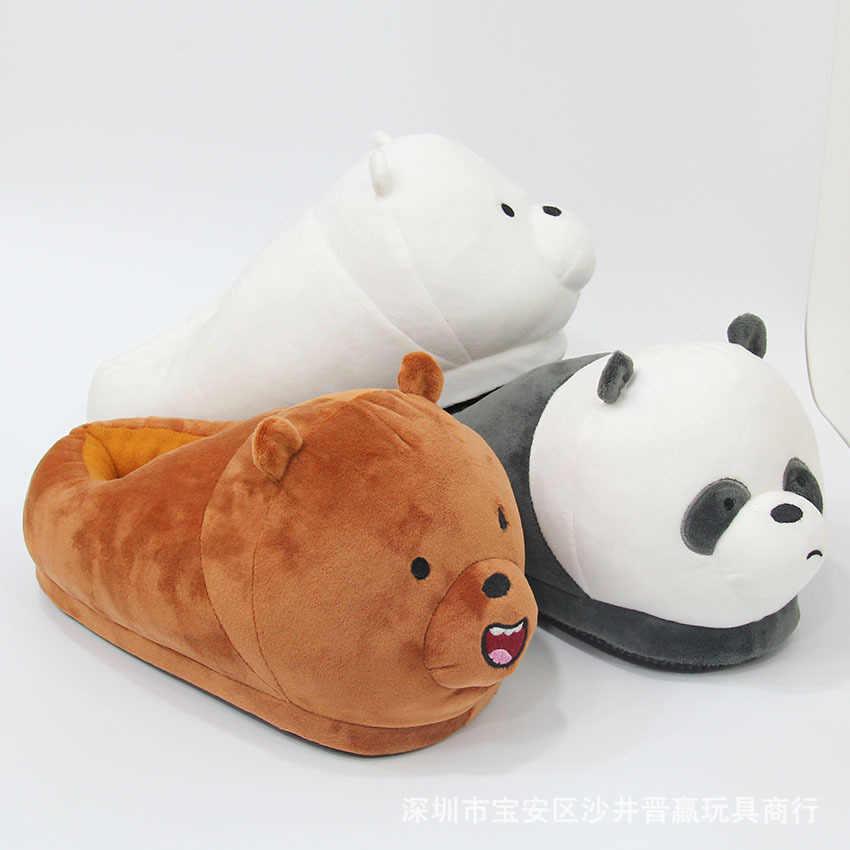 ホーム豪華な動物暖かい靴綿スリッパアニメパンダシロクマコスプレ靴女性/男性カップルスリッパ大人スタイル