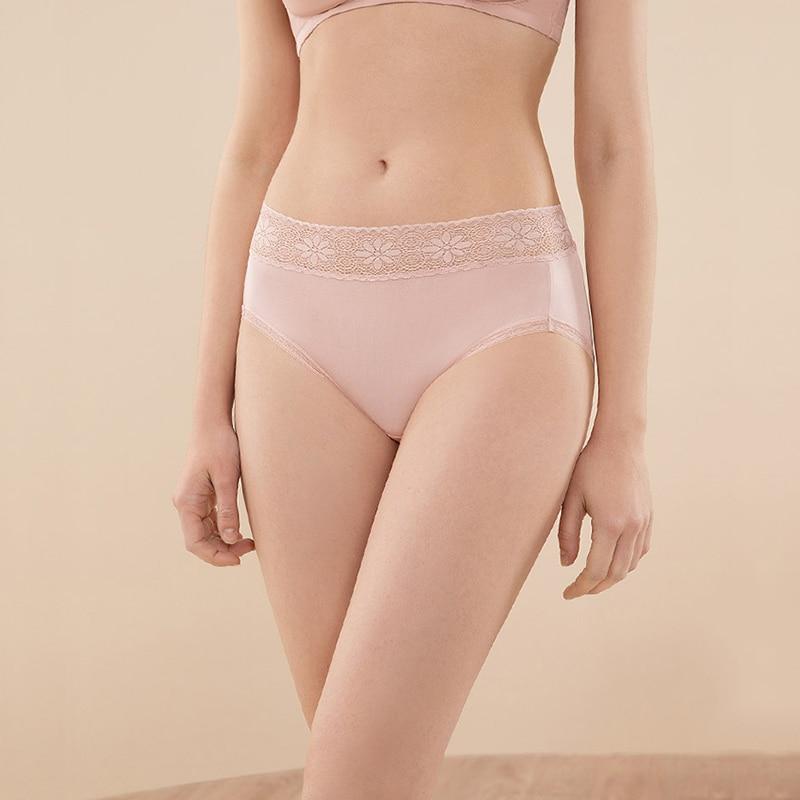 الحرير النساء سراويل سلس 100% الحرير الطبيعي ملخصات الملابس الداخلية اللباس الداخلي مثير الدانتيل الملابس الداخلية السيدات منتصف الارتفاع 3 قطعة/الوحدةسراويل نسائية   -