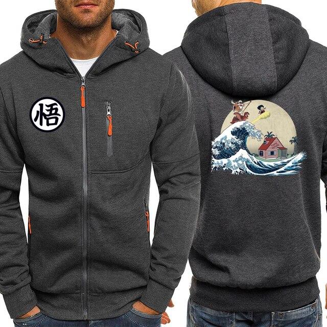 Master Roshi Hoodie Men Sweatshirt Japanese Anime Hoody Dragon Ball Z Mens Hoodies 2019 Autumn Winter Casual Streetwear Jacket