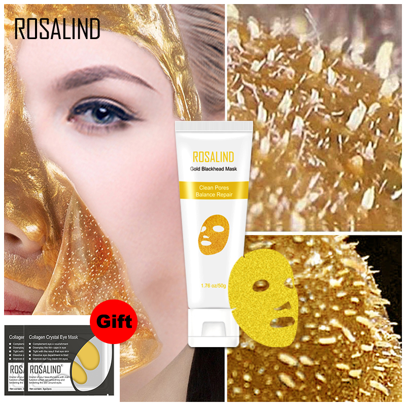 ROSALIND Facial Mask Peeling Blackhead Remedy Remover Mask From Black Dots Anti-Aging Dead Sea Mask Gold Shrink Pore Skin Care
