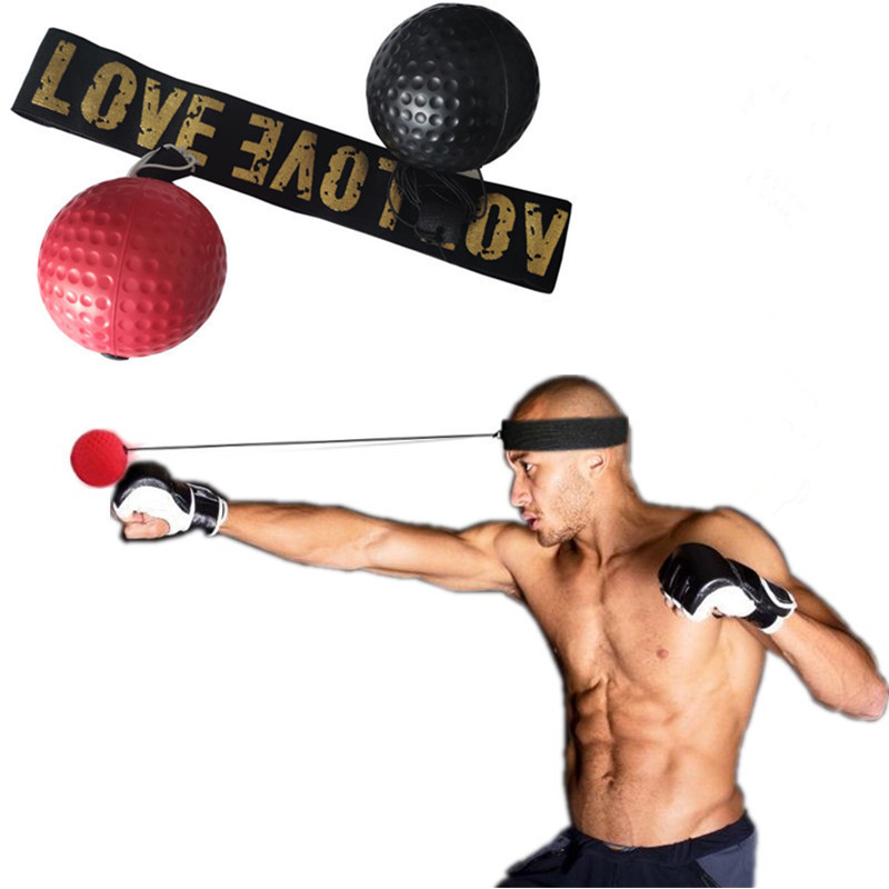 Reflex Ball Boxing Punch Exercise Fight Ball React Reflex Punching Speed Ball Adjustment Head Circumference 460MM
