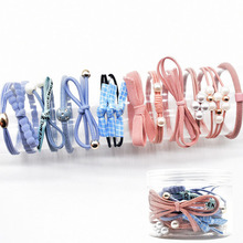 YVLAH 12Ps/Set New Hair Ring Colorful  Rubber Band Sweet Head Rope For Women Girl
