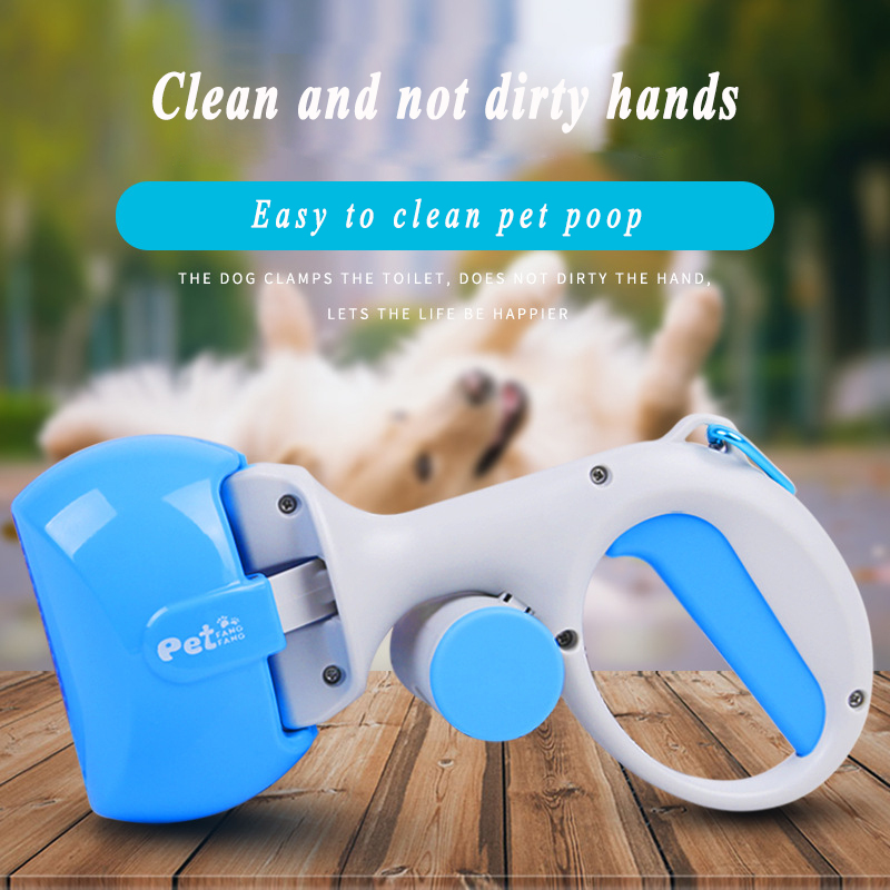 2 In 1 Pooper Scooper + (1 Lot = 15 Pieces) Poop Bag Set For Dog Cat Outdoor  Cleaning Trash