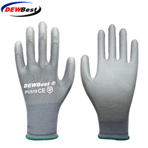 Image 2 - 12Pairs DEWBest Working Protective Gloves Men&women Flexible Blue Polyester Nylon Safety Work Gloves f9