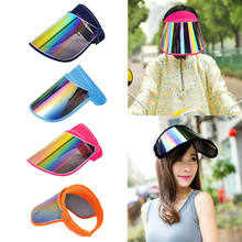 Womens Anti-UV Wide Brim Visor Cap Beach Adjustable Sun Protection Hat Outdoor(China)