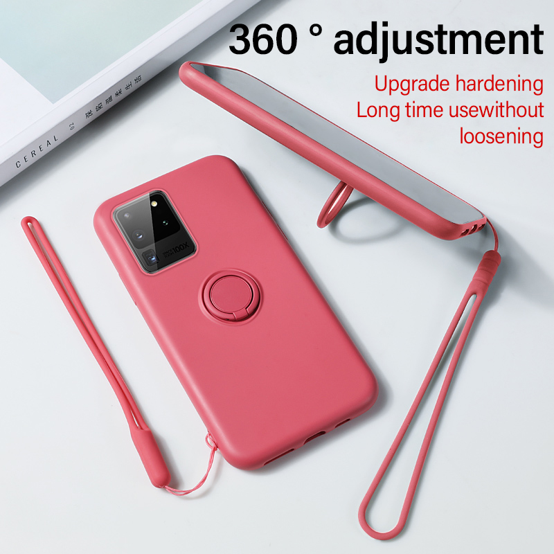 Phone <font><b>Case</b></font> For Samsung galaxy S20 S10 E 5G S9 S8 <font><b>Note</b></font> 10 <font><b>9</b></font> Pluscases shell Stand <font><b>Ring</b></font> Bracket Cover Silicone Magnetic Holder image