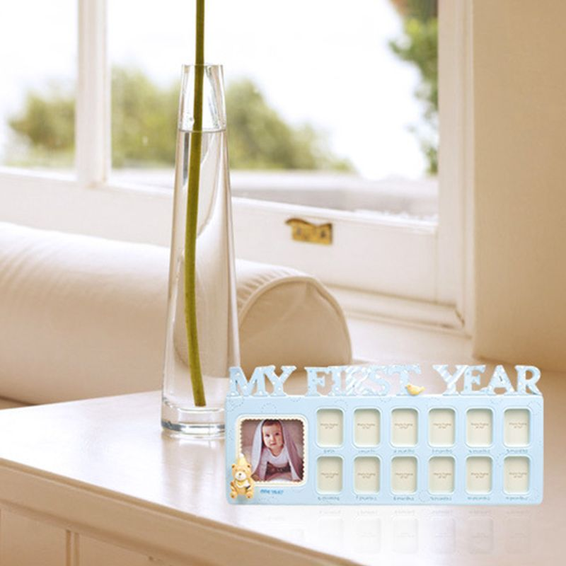 Handmade DIY Baby 12 Months Growth Record Commemorate Kids Growing Memory Gift Display Photo Frame D08C