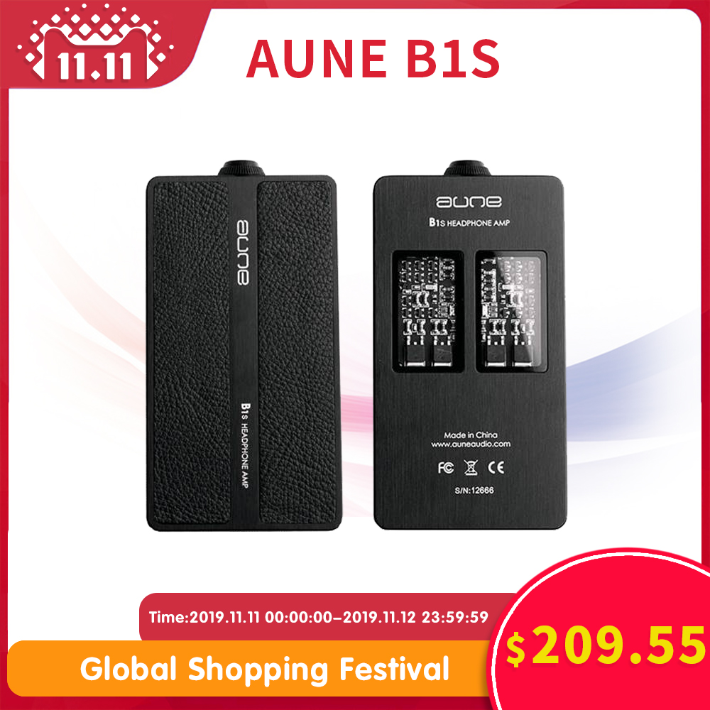 AUNE B1S Hifi Headphone Amplifier Class A Fully Discrete Large Thrust Portable DSD Headphone Amp