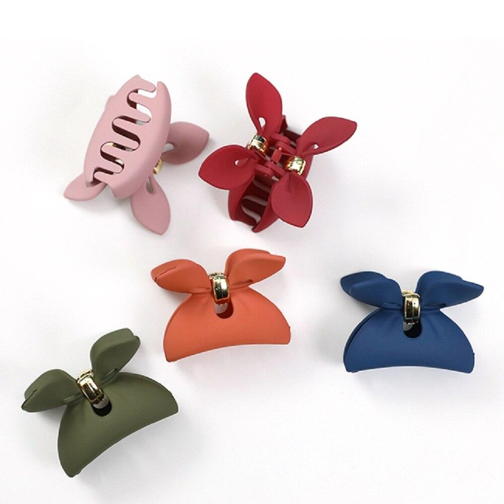 Make up Candy Color Crab Rabbit Ear Acrylic Hair Claw Hair Clamp Hair Clip
