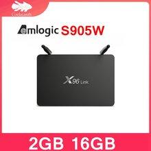 ТВ приставка x96 link android 71 amlogic s905w 4k 2 + 16 ГБ