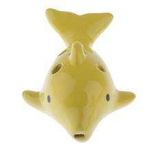 Милый альт окарина 6 отверстий Дельфин формы набор, для детей начинающих музыкальный подарок ремесло