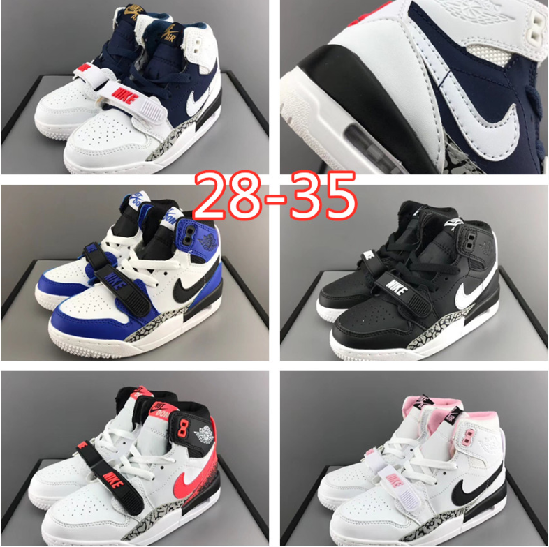 Air Jordan Legacy 312 USA Dream Team Olympic White Blue kid children shoes eur 28-35
