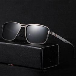AOFLY BRAND DESIGN Polarized Sunglasses For Men 2020 Square Metal Frame Night Driver Fishing Sun Glasses Male zonnebril heren