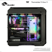 Acrylic-Board BYKSKI Water-Channel Gpu-Block/3pin Thermaltake/tt Rgb/instead-Of-Reservoir