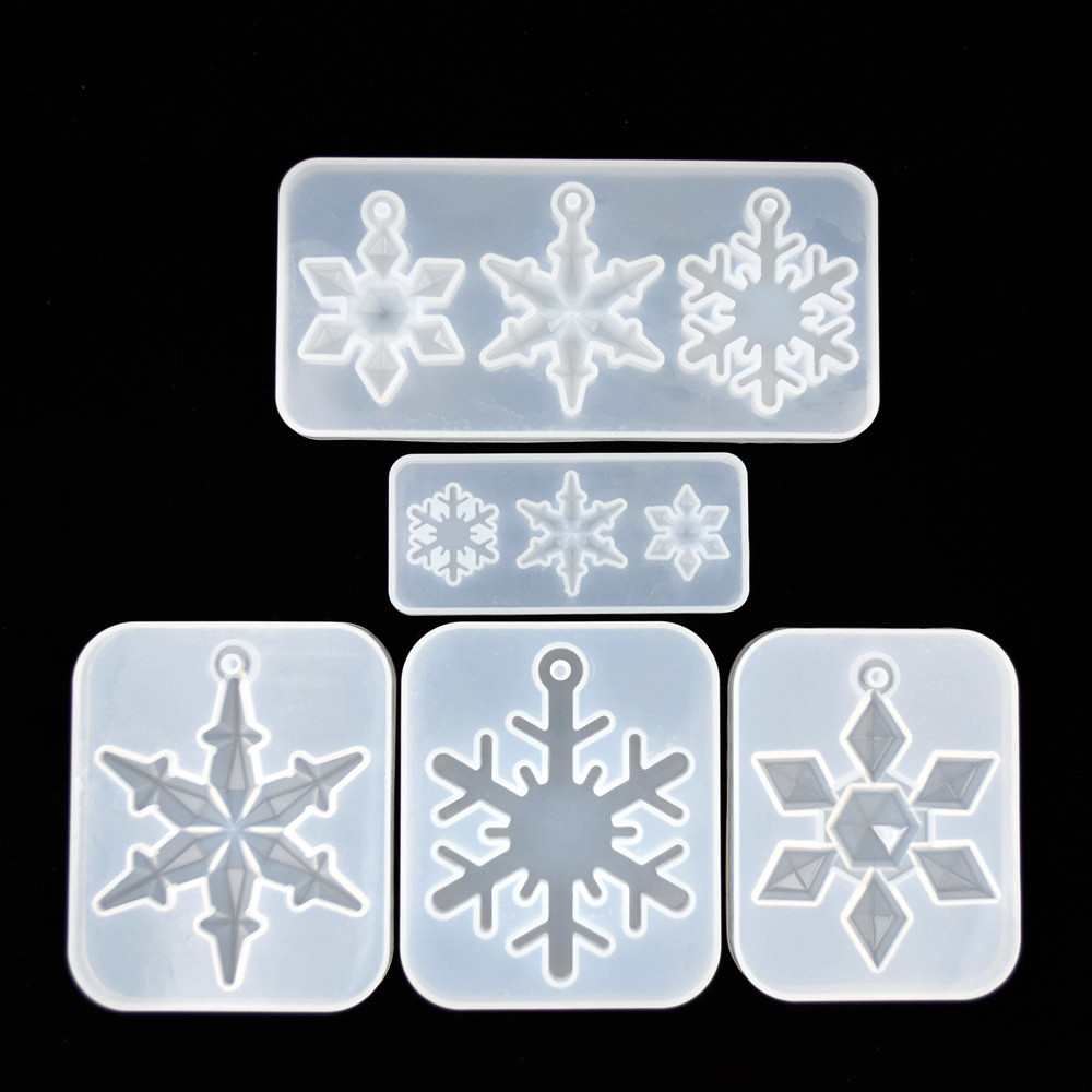 SNASAN New Snowflake Pendant Silicone Mold For Jewelry Making Resin Jewelry Tool UV Epoxy Resin Molds Decorative Crafts