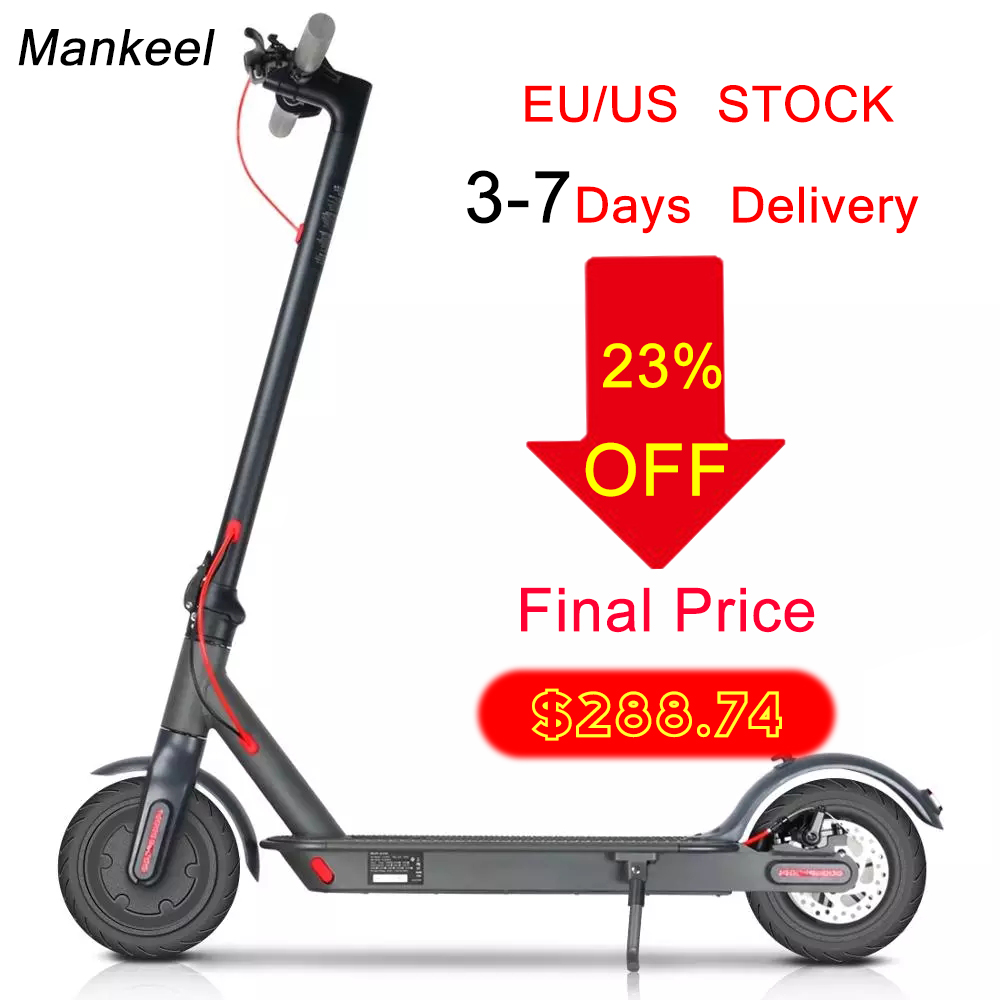 Electric Scooter 7.8Ah 25KM Range 350W Power Sport Foldable With Smart App/LED Display EU/US IN STOCK Fast Shipping