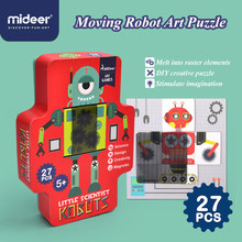 Mideer robô de brinquedo 5-14 anos raster jogo robô brinquedos puzzle criativo magnético imposição brinquedo diy robô quebra-cabeça
